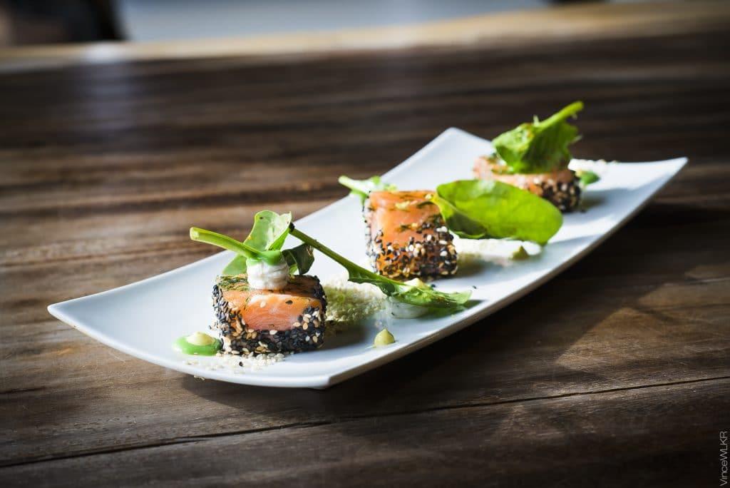plat entrée saumon culinaire