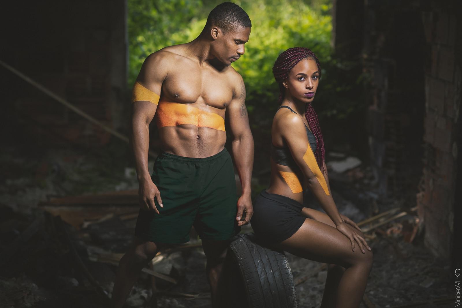 bodypainting athletes urbain