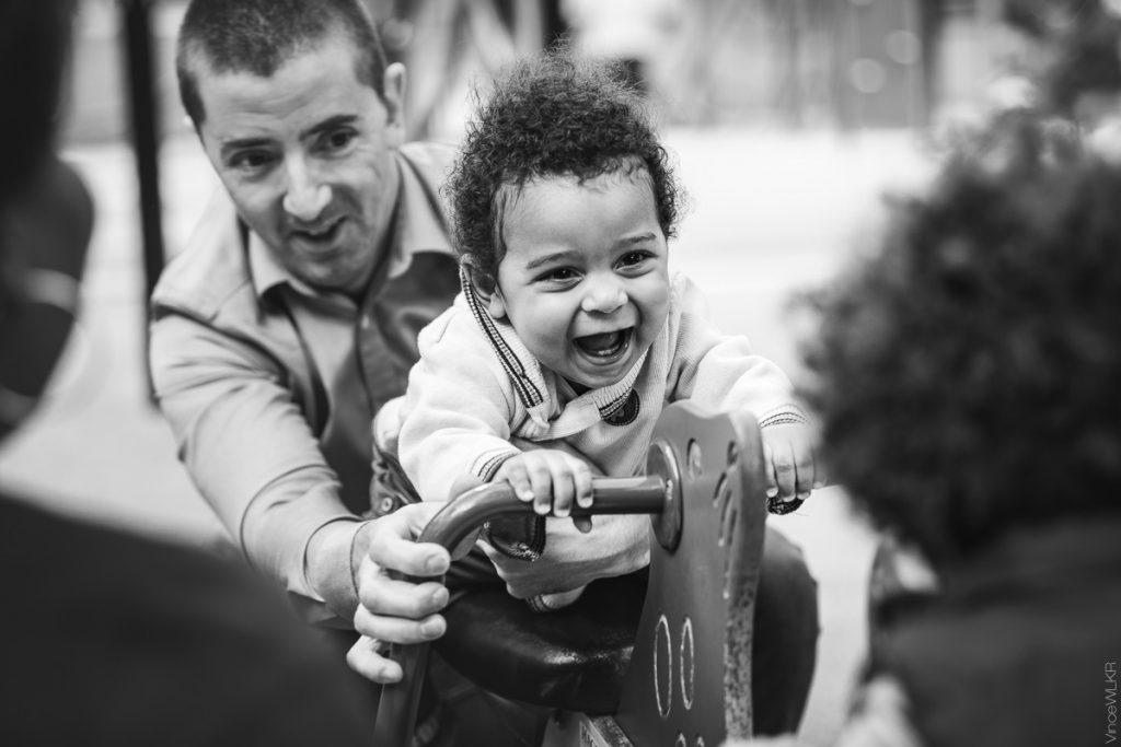 parc à jeux, photo de famille