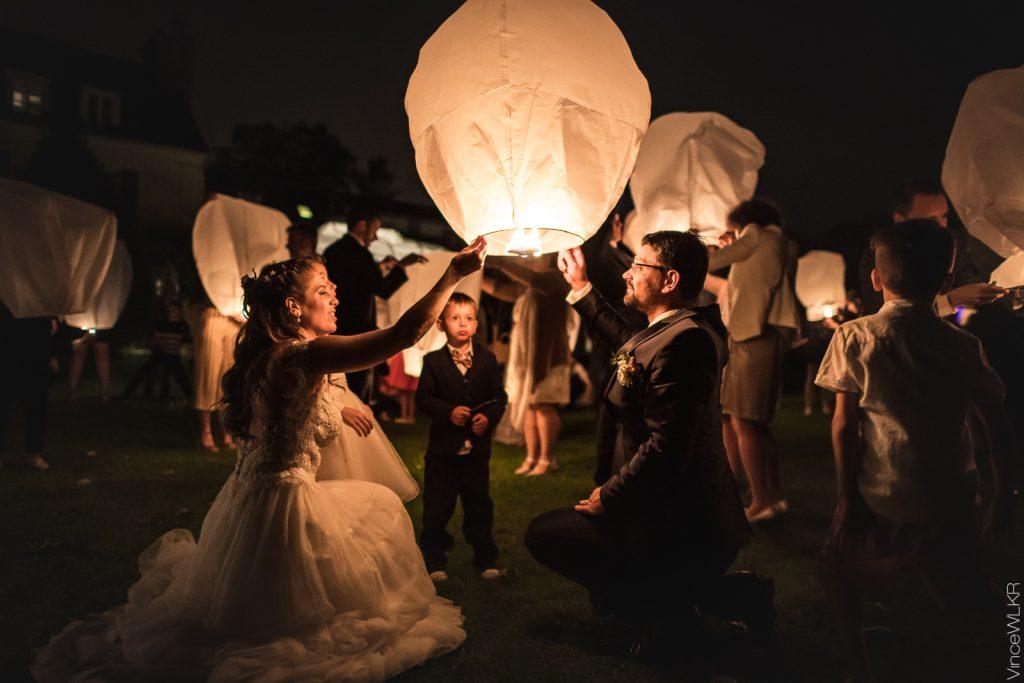 Lacher de lanternes à La Varenne Jarcy (91)