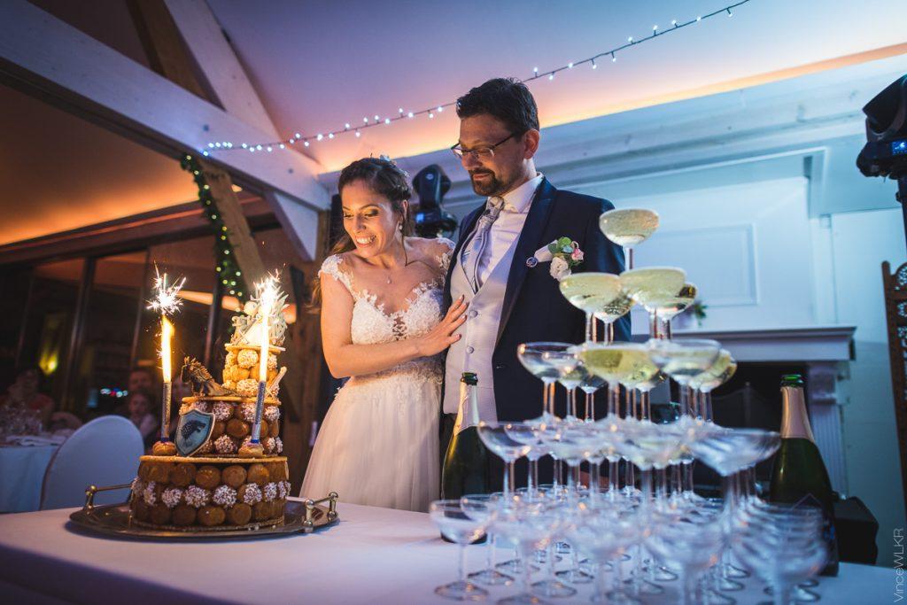 mariage coupe de champagne gâteau