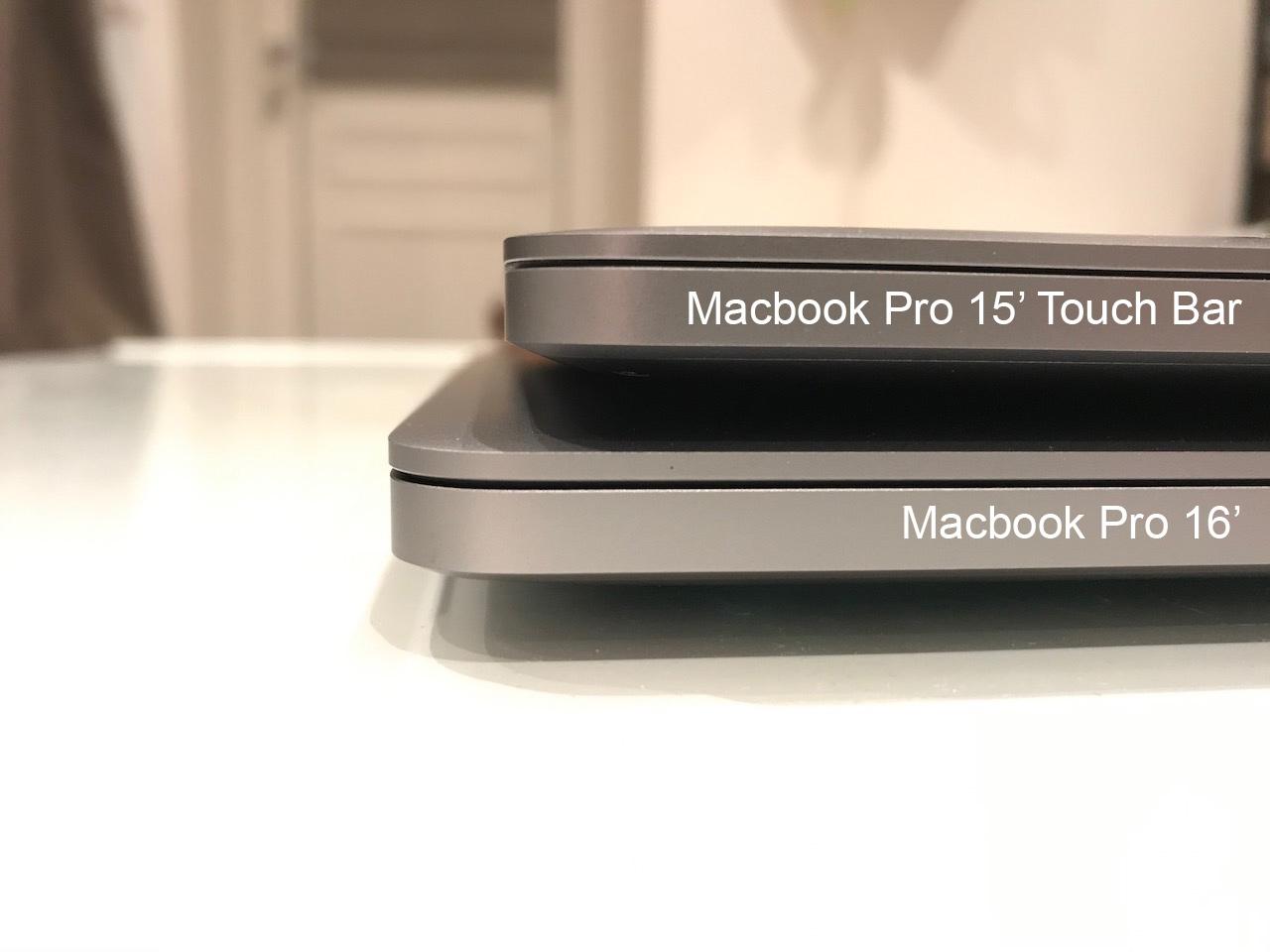 macbook pro 15 vs macbook pro 16
