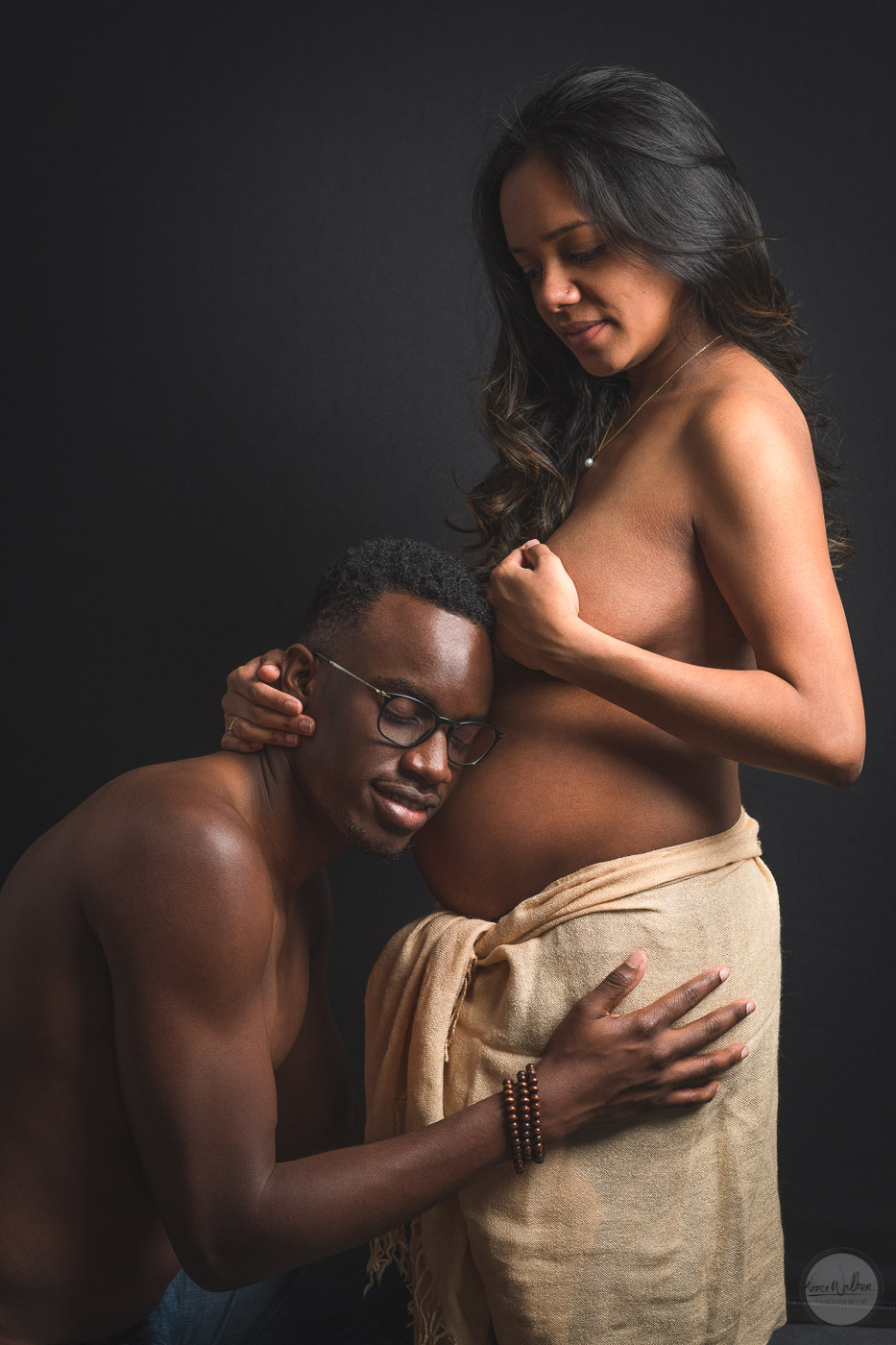portrait photo couple femme enceinte