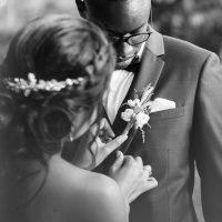les mariés noir et blanc