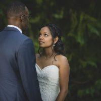 photos de couple de marié dans le parc dammarie les lys