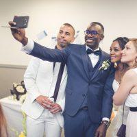 selfie avec les mariés