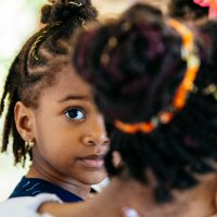 l'oeil d'une enfant